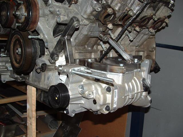 Twin supercharged Lexus V8 taking shape