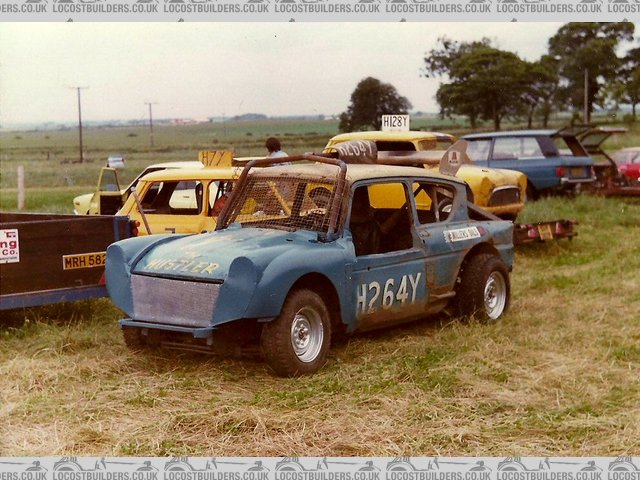 Anglia with moggy 1000 wings & ford 3000 v6